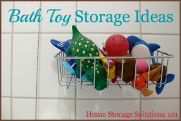 bath toy storage and organization ideas