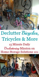 Bicycle Donation & Decluttering