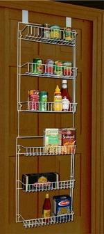 over the pantry door shelves