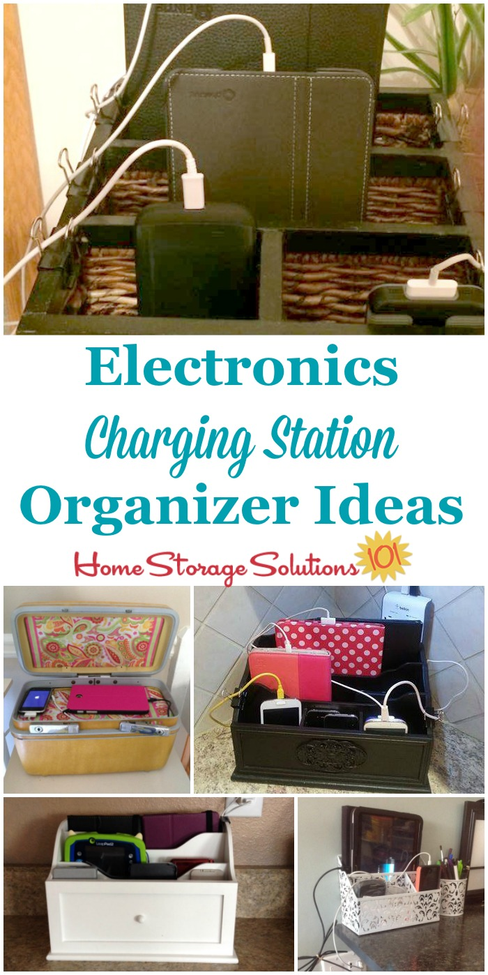 Diy Charging Station Organizer Iphone Dock Office