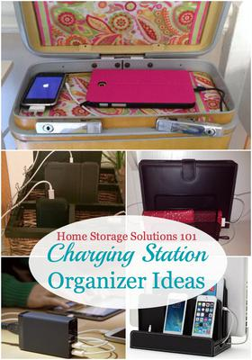 Charging Station Organizer Ideas For Phones & Other Electronics