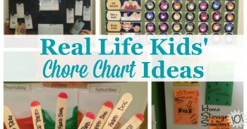 Real life examples of kids chore charts