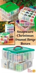 Snapware Christmas Ornament Storage Boxes