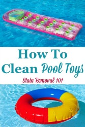 How to clean pool toys