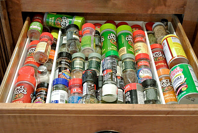 Spice drawer - before
