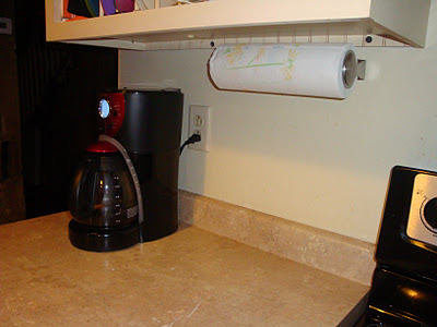 After - installed paper towel dispenser on wall