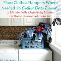Collect Dirty Laundry With A Clothes Hamper