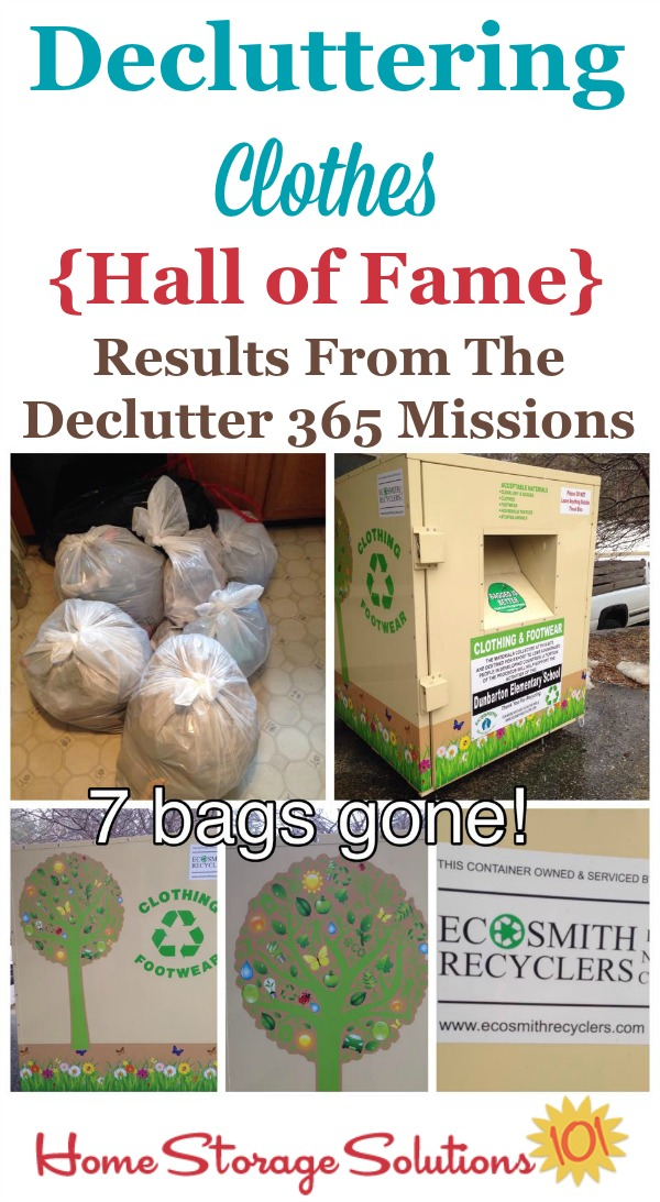 Hall of fame of Declutter 365 participants who've gotten rid of clothing clutter in their homes, and 7 reasons why it makes them feel awesome! {on Home Storage Solutions 101}