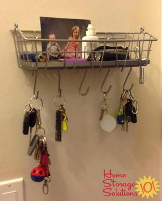 Combine Key Organizer With Storage For Other Stuff Commonly Brought In The  Door