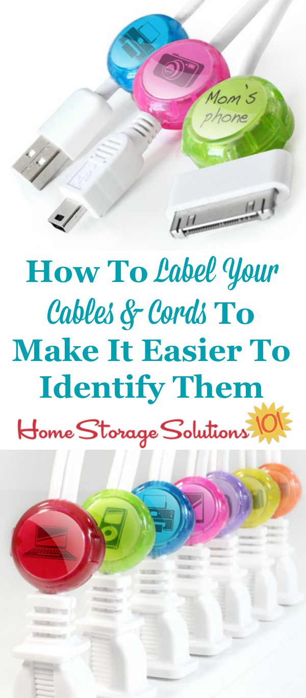 Captivating How To Labels Cords, Wires And Cables Youu0027ve Got For Various Electronics In  ...