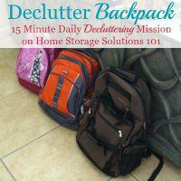 Declutter Backpack