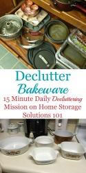Declutter Bakeware