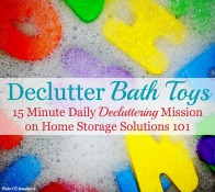 declutter bath toys: 15 minute mission