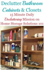 Declutter Bathroom Cabinets