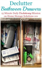 Declutter Bathroom Drawers
