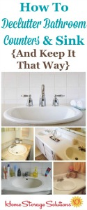 Declutter Bathroom Sink