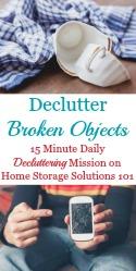 Declutter Broken Objects