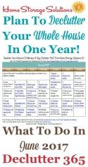 June Declutter Calendar
