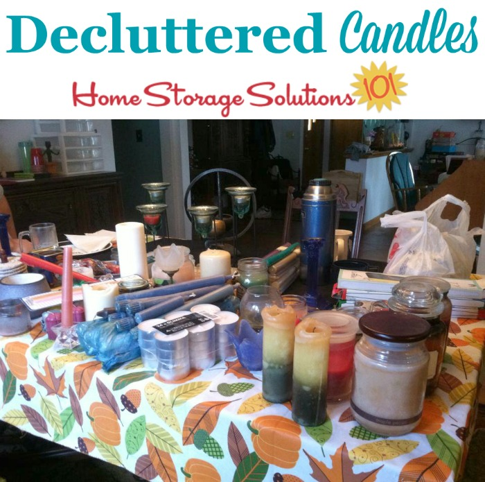 How to declutter candles, including candle collections, to get your home clutter free {part of the #Declutter365 missions on Home Storage Solutions 101}