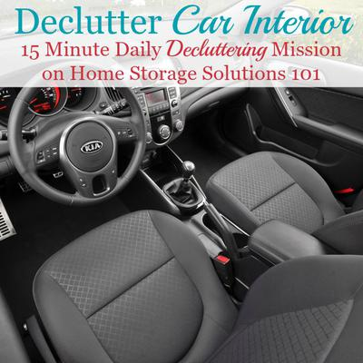 how to declutter your car interior keep it that way. Black Bedroom Furniture Sets. Home Design Ideas