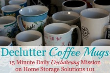 Declutter Coffee Mugs