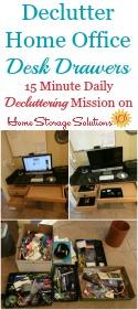 Declutter Desk Drawers
