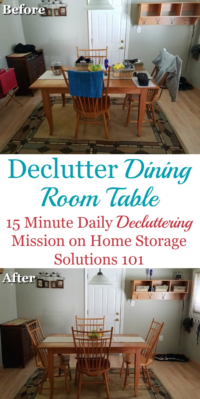 How To Declutter Your Dining Room Table