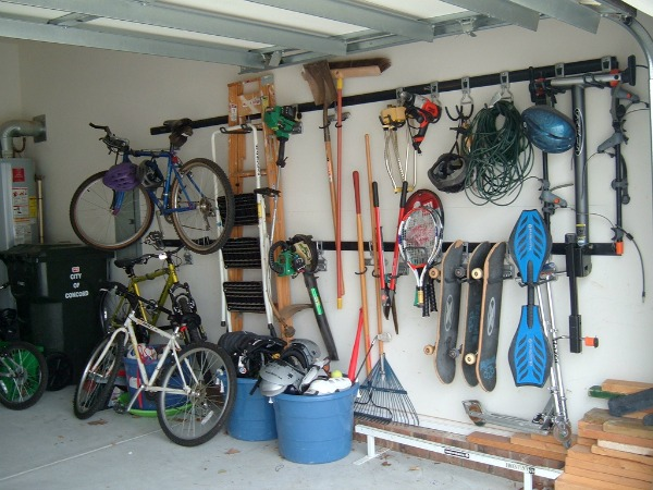 Ideas and suggestions of what to do with fitness and sports equipment that you decide to declutter from your home {featured on Home Storage Solutions 101}