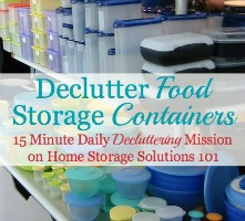 Declutter Food Storage Containers