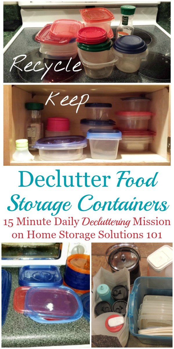 How to declutter food storage containers from your home {a #Declutter365 mission on Home Storage Solutions 101} #DeclutterKitchen #KitchenClutter