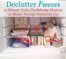 Declutter Your Freezer