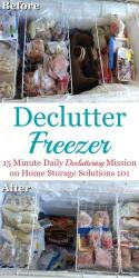 Declutter Freezer