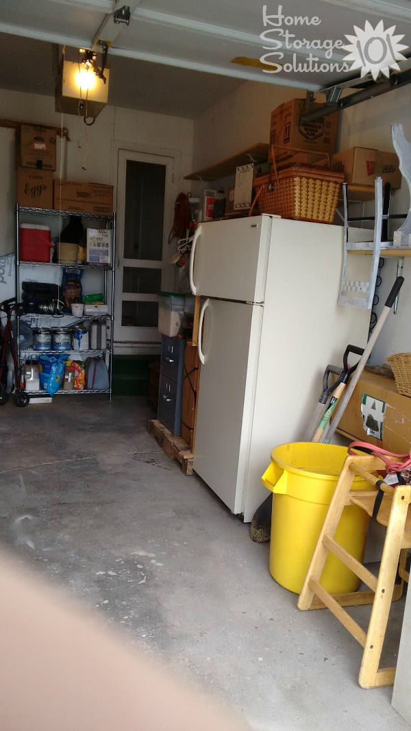 Results when Suzette decluttered her garage {featured on Home Storage Solutions 101}