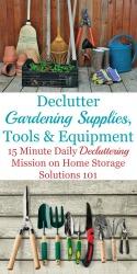How To Declutter Gardening Supplies