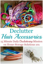 How To Declutter Hair Accessories
