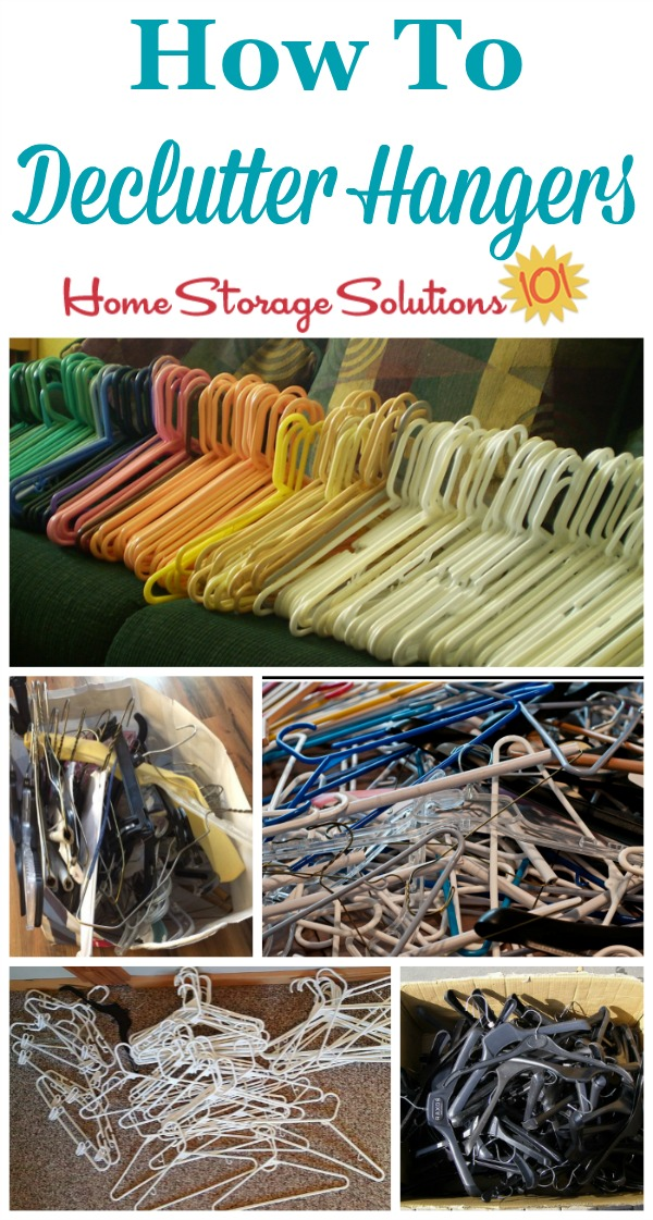 How to declutter hangers, including the types to get rid of and what to do with them once you've decided to let them go {on Home Storage Solutions 101}