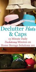 How To Declutter Hats & Caps