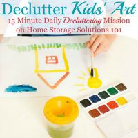 Declutter Kids' Art