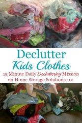 Declutter Kids Clothes