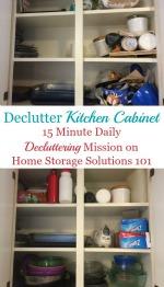 Declutter Kitchen Cabinets