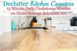 Declutter Kitchen Counters