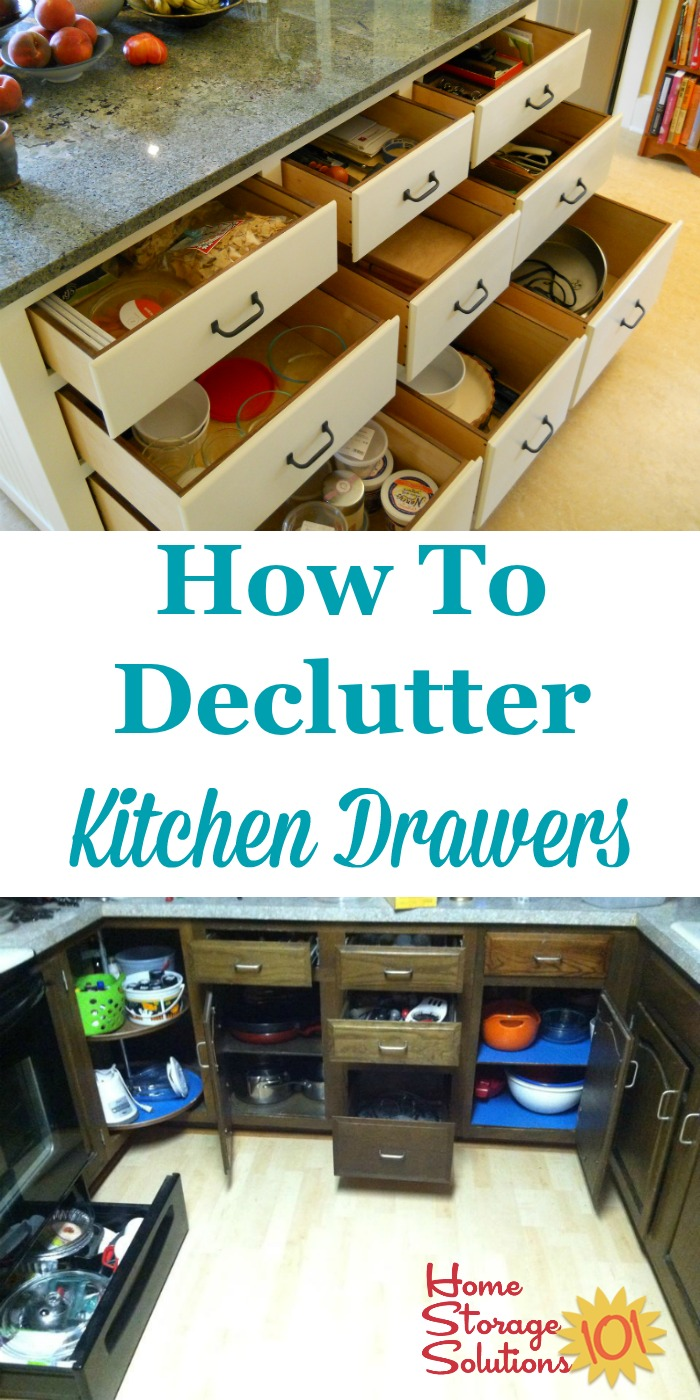 How To Declutter Kitchen Drawers