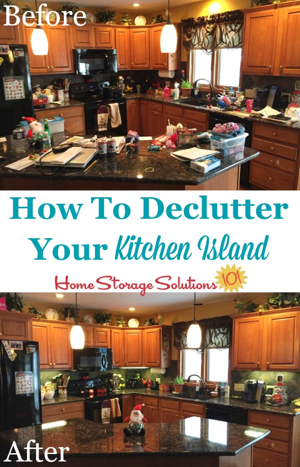 How to declutter your kitchen island and then keep it that way from now on.
