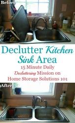 Declutter Your Kitchen Sink Area