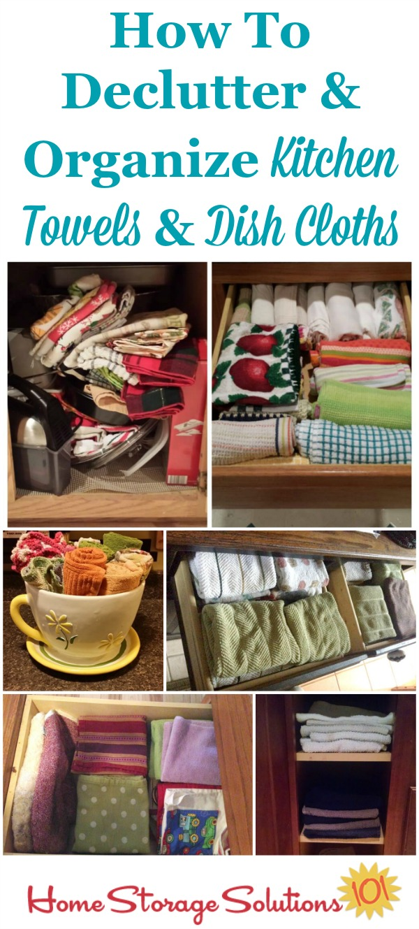 Kitchen Towel Storage Declutter Kitchen Towels Dish Cloths 15 Minute Mission
