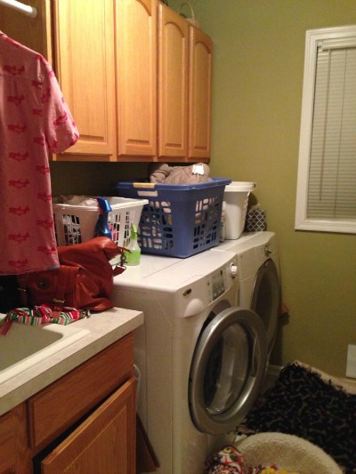 laundry room clutter