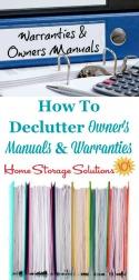 Declutter Manuals