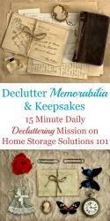 How To Declutter Memorabilia & Keepsakes