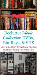 How To Declutter Movies & Videos