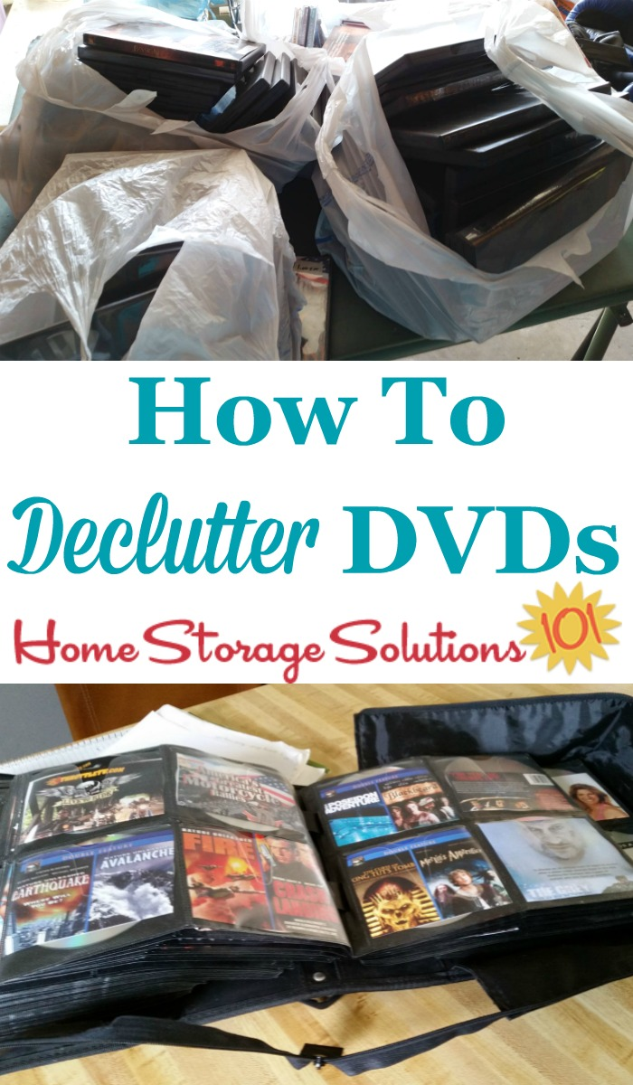 How to #declutter DVDs and other movies from your home {on Home Storage Solutions 101} #ClutterControl #decluttering